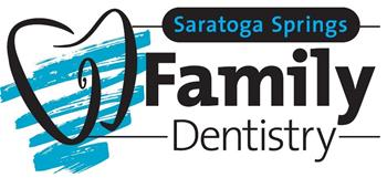blue and black logo for Saratoga Springs Family Dentistry