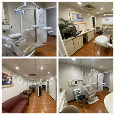 dental operatory and dental reception area