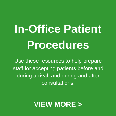 In-office Patient Procedures button