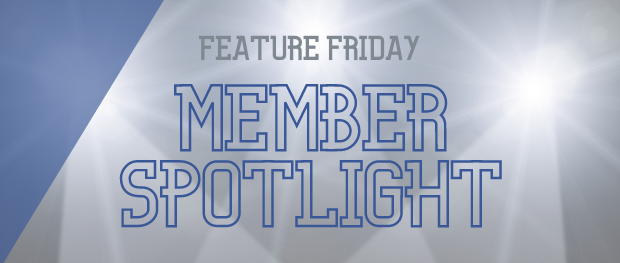 Feature Friday Member Spotlight image with lights